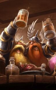 Dwarves drinking