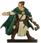 male half-elf miniature with cloak and staff