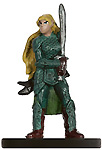 female elf miniature with armor and two-handed sword