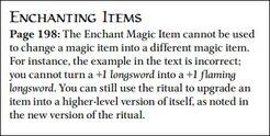 Update - Enchant Magic Item