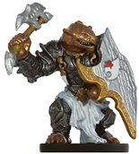 male dragonborn miniature with armor, axe and shield