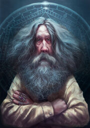 640x909 9488 Alan Moore 2d illustration old man portrait mage fantasy picture image digital art