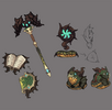Green dragon sorceress weapon