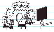 Frank is not happy when Greg crunches his jawbreakers