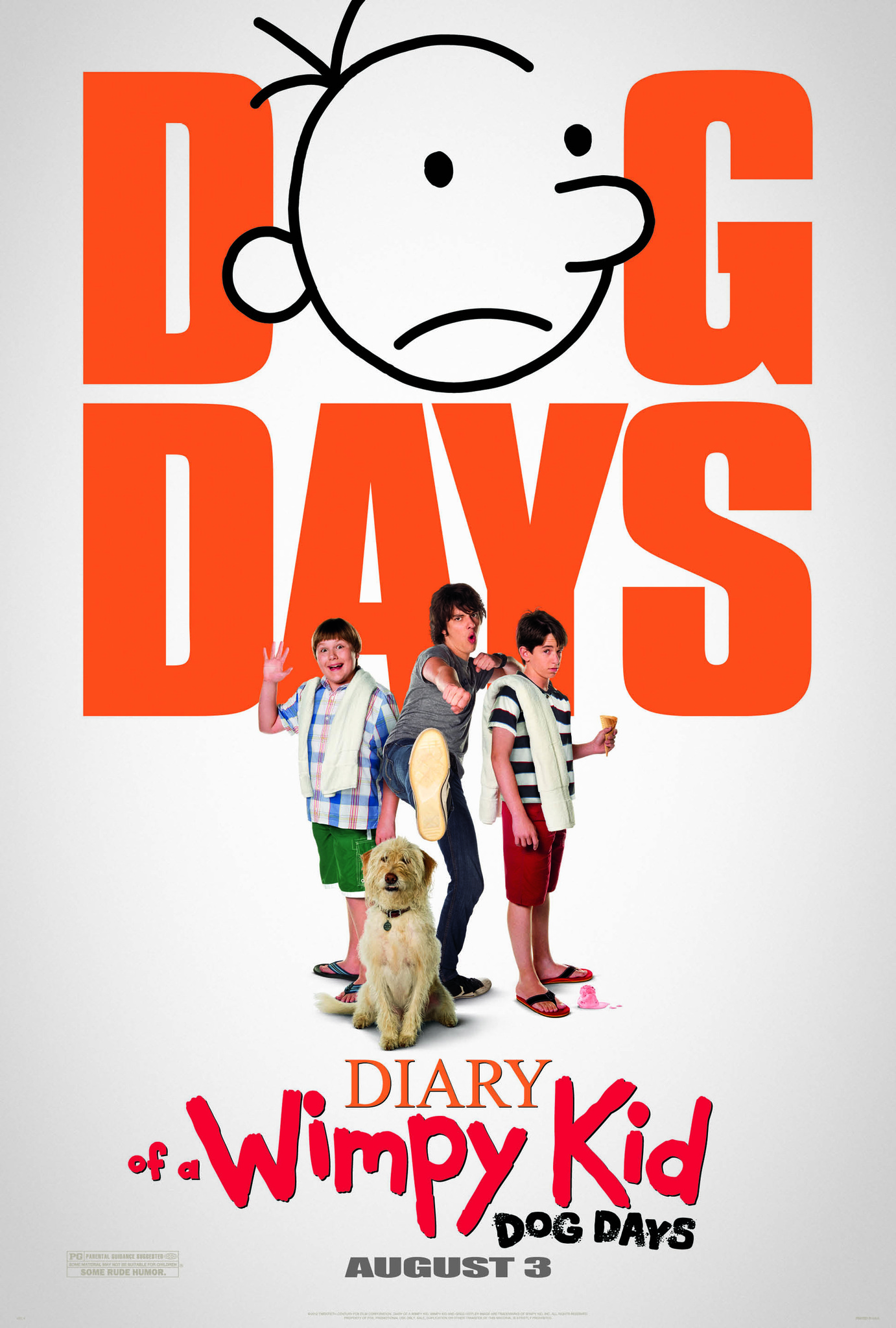 Dog days poster featuring sweetie the dog