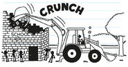 Greg imagines using a backhoe to pull the epic prank on tearing down his school