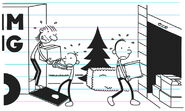 Greg and Frank helping Gary Heffley moving things from the moving van