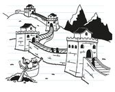 Greg and Rowley see The Great Wall of China