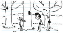 Greg blubbers that he did not want his parents to cut down the dead tree