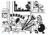 Greg imagines being inside DIY store to attack the zombies