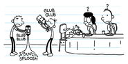 Rodrick, Greg and Manny misbehaving and made Susan and Frank puzzled