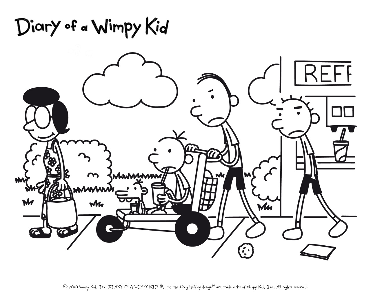 Heffley family diary of a wimpy kid wiki fandom for Wimpy kid coloring pages