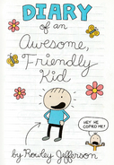 Do-It-Yourself Book Diary of an Awesome, Friendly Kid 1