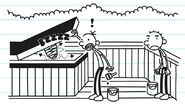 Greg is shocked to see wasps living underneath the hot tub cover