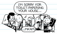 Rodrick calls Mrs. Tuttle to apologize for toilet-papering her house