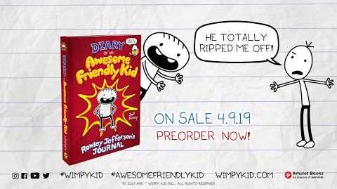 New from Jeff Kinney – Diary of an Awesome Friendly Kid
