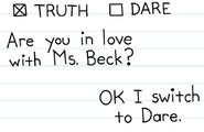 Are you in love with Ms. Beck
