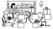 The Heffley Family packing up their stuff for their moving