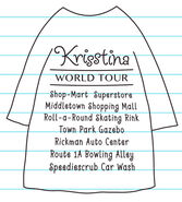 Krisstina's World Tour T-shirt