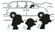 The Heffley Family hide in the minivan