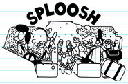 Cellophane explodes and the water splooshes into The Heffley's Van