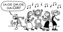 Greg and girls dancing