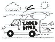 Rodrick drives his van while air drying his clothes