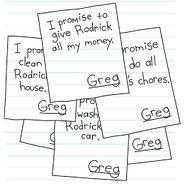 Greg's signature in Rodrick's papers