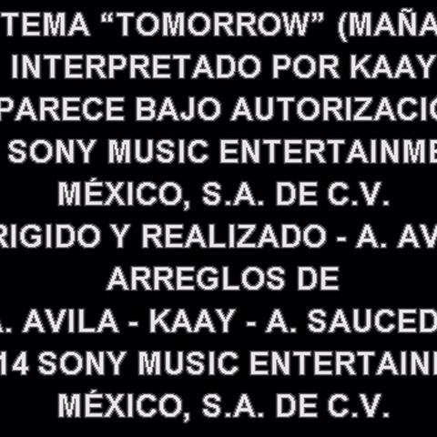 Créditos del DVD (sólo la canción final en español interpretada por Kaay)