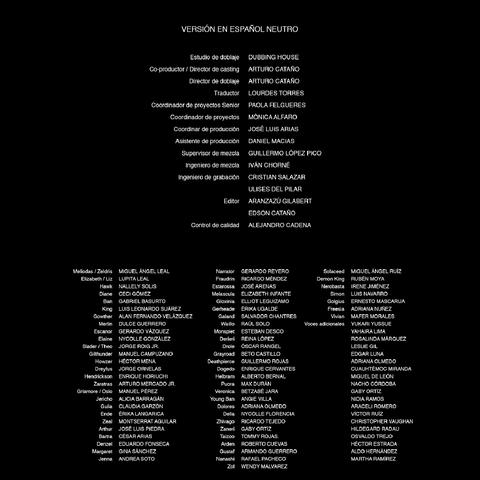 Créditos de la segunda temporada