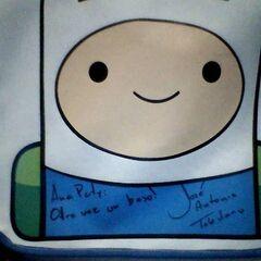 Mochila autografiada