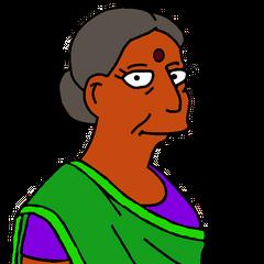Sra. Nahasapeemapetilon (Madte de Apu) en <a href=