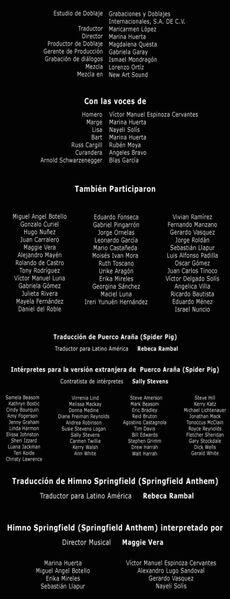 Doblaje Latino de Los Simpson La Película (2)