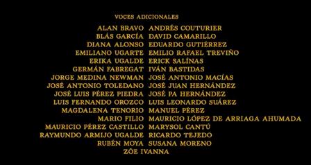 El libro de la selva (2016) Doblaje Latino Creditos 2