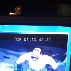 Foto durante la grabación del episodio 28: <b>La Carrera Espacial</b>.