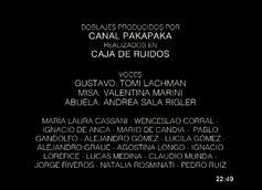 Créditos de doblaje de Misa y el lobo (TV) (Pakapaka)