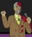 Morgan Freeman in blood