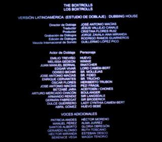 Doblaje Latino de Los Boxtrolls (Versión Cine)