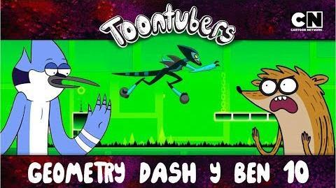 EL MEJOR ENTRENAMIENTO PARA EL GEOMETRY DASH ES BEN 10 ToonTubers Cartoon Network
