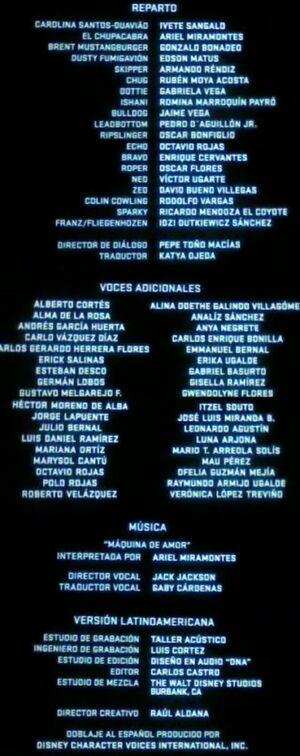 Doblaje Latino de Aviones (Versión Cine)