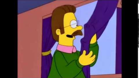 Los simpson ned flanders cortinas purpura