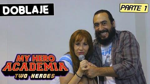 MY HERO ACADEMIA TWO HEROES LATINO Parte 1 Entrevista a Claudia Bramnfsette voz de Uraraka