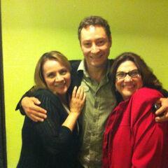 Maggie Vera, Beto Castillo (Flam) y Gaby Cárdenas (Sra. Cake). (29/10/12)