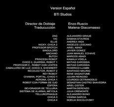 Créditos de doblaje de Extraterrestres de Tellur (Netflix)