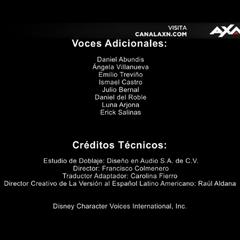 Créditos de la décima temporada (datos técnicos).
