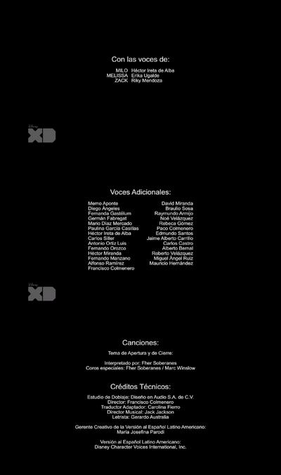 La ley de Milo Murphy créditos 2x01-02
