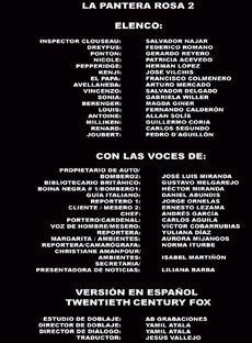 Doblaje Latino de La Pantera Rosa 2