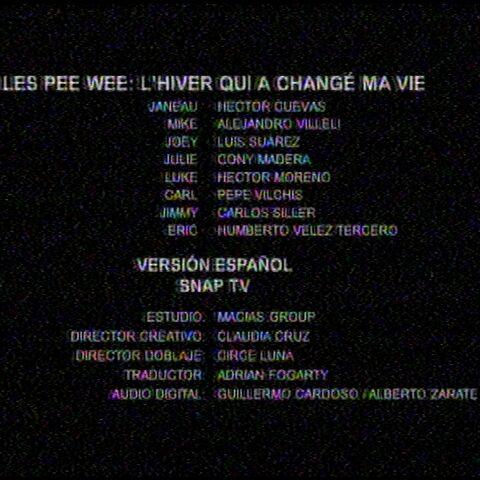 Créditos de la TV.