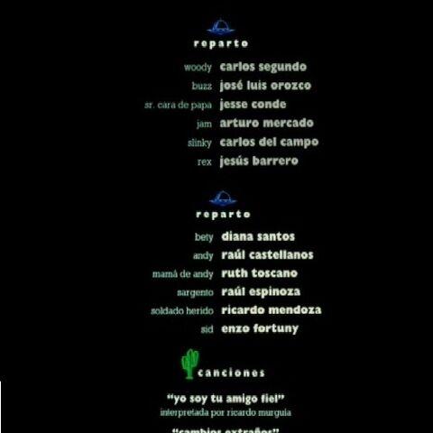 Primera versión de los créditos.