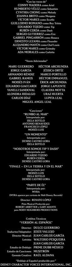Doblaje Latino de La Sirenita 2 Regreso al Mar